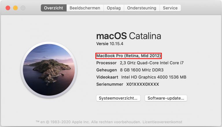 Over mijn Macbook